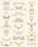 Decorative elements, vector Stock Photos