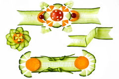 Decorative elements from vegetables Royalty Free Stock Image