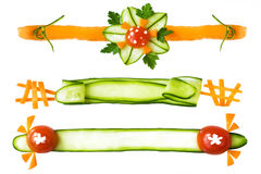 Decorative elements from vegetables Royalty Free Stock Images