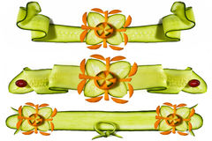 Decorative elements from vegetables Royalty Free Stock Photos