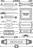 Decorative elements. Vintage Royalty Free Stock Photos