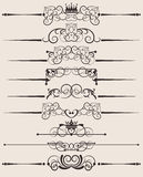 Decorative elements. Vintage Royalty Free Stock Images