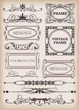 Decorative elements. Vintage Stock Photography