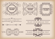 Decorative elements. Vintage Stock Photos