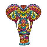 Decorative elephant illustration Stock Photography