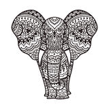 Decorative elephant illustration Stock Photography