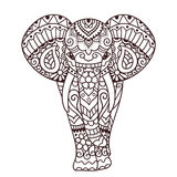 Decorative elephant illustration Stock Photos