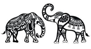 Decorative Elephants Stock Images