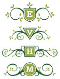 Decorative Emblem or Monogram Designs Royalty Free Stock Image