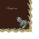 Decorative embroidery corner Stock Photo