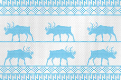 Decorative embroidery on the fabric. Reindeer. Vector illustration. Royalty Free Stock Photo