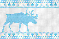 Decorative embroidery on the fabric. Reindeer. Vector illustration. Stock Image