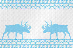 Decorative embroidery on the fabric. Reindeer. Vector illustration. Stock Photo