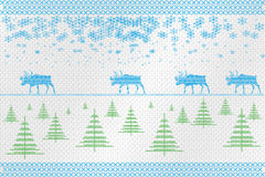 Decorative embroidery on the fabric. Reindeer. Vector illustration. Stock Images