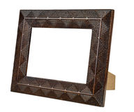 Decorative empty bronze picture frame Stock Photo