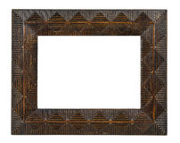 Decorative empty bronze picture frame Royalty Free Stock Image