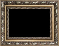 Decorative empty golden wood picture frame Royalty Free Stock Photography