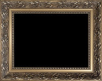 Decorative empty golden wood picture frame Royalty Free Stock Images