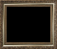 Decorative empty golden wood picture frame Royalty Free Stock Photo