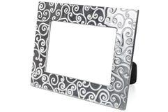 Decorative empty photo frame on white background Royalty Free Stock Photography