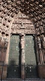 Decorative entry to the church. Cathedrale Notre Dame de Strasbourg Royalty Free Stock Photo