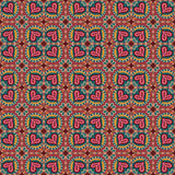 Decorative ethnic abstract love, heart, flowers pattern. Vector seamless Royalty Free Stock Photos