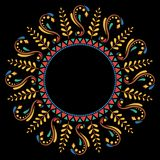 Decorative ethnic circular frame Royalty Free Stock Images
