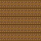 Decorative ethnic floral striped pattern Stock Photo