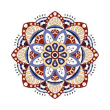Decorative ethnic mandala. Outline isolates ornament. Vector design with islam, indian, arabic motifs. Stock Photography
