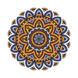 Decorative ethnic mandala. Outline isolates ornament. Vector design with islam, indian, arabic motifs. Royalty Free Stock Photography