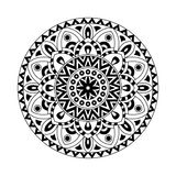 Decorative ethnic mandala. Outline isolates ornament. Vector design with islam, indian, arabic motifs. Royalty Free Stock Images