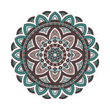 Decorative ethnic mandala. Outline isolates ornament. Vector design with islam, indian, arabic motifs. Decorative ethnic mandala. Outline isolates ornament Royalty Free Stock Photo