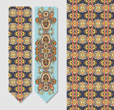 Decorative ethnic paisley bookmark for printing Stock Photos