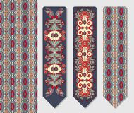 Decorative ethnic paisley two bookmark for Stock Photography