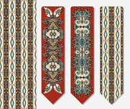 Decorative ethnic paisley two bookmark for Royalty Free Stock Photo