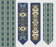 Decorative ethnic paisley two bookmark for Stock Photo