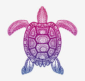 Decorative ethnic turtle with ornamental pattern. Vector tribal totem animal Stock Image