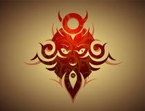 Decorative evil mask stock illustration