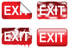 Decorative Exit Signs Stock Photo
