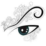 Decorative eye. Universal template for greeting card, web page, background Stock Images