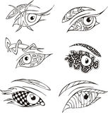 Decorative eyes Stock Photos