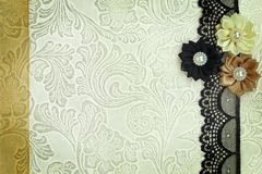 Decorative fabric background Royalty Free Stock Photos