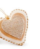 Decorative fabric heart Royalty Free Stock Images