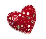 Decorative fabric heart Stock Photos