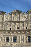 Decorative facade at the market square in Kazimierz Dolny Stock Photo