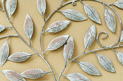 Decorative fake iron leaves Royalty Free Stock Images