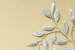 Decorative fake iron leaves Stock Photos