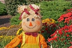 Decorative fall scarecrow Stock Photography