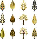 Decorative Fall Trees Stock Photography