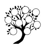 Decorative family tree design Royalty Free Stock Photos